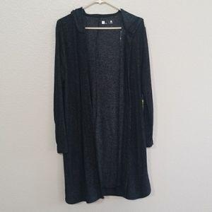 Xersion Long Open Front Cardigan Size Medium